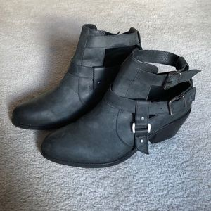 Topshop Black Strappt Booties
